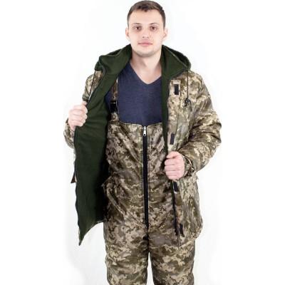 Куртка + Полукомбинезон утепленный рабочий зимний (зимняя спецодежда костюм для охоты/рыбалки) OSPORT ty-0009