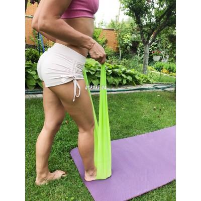 Резинка для фитнеса и спорта (лента эспандер) эластичная в рулоне набор 3шт (FI-6908)