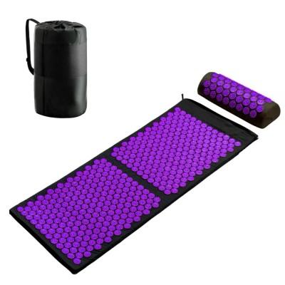 Набор Аппликатор Кузнецова массажный акупунктурный коврик + подушка массажер для спины/ног OSPORT Pro (n-0006)