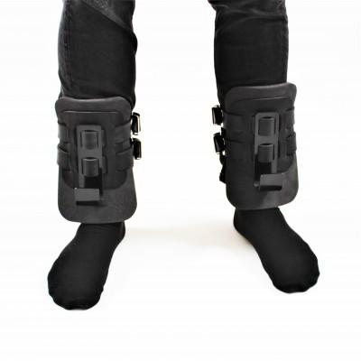 Гравитационные ботинки (инверсионные крюки для турника) тренажер спины и пресса OSPORT Lite Black (OF-0009)