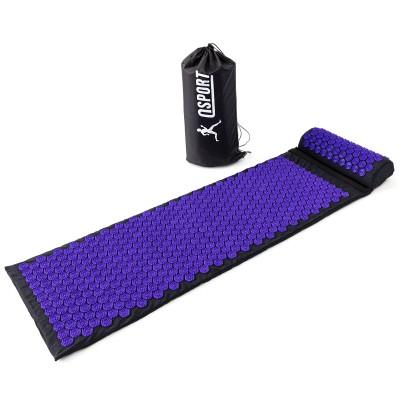 Массажный коврик и валик (аппликатор Кузнецова) массажер для спины/шеи/тела OSPORT Lotus Mat EcoPro (apl-022)