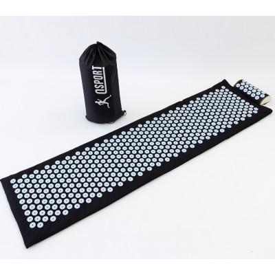 Массажный коврик с валиком (аппликатор Кузнецова) массажер для спины/шеи/головы/тела/ног OSPORT Long (apl-019)