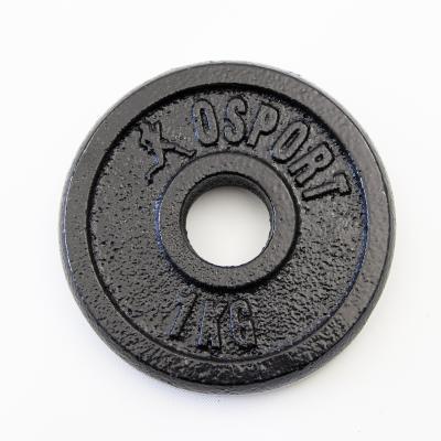 Металлический блин (диск чугунный) для гантели (штанги) под гриф 25мм OSPORT 1 кг (OF-0035)