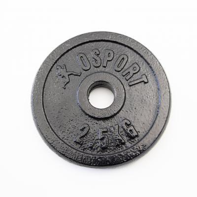 Металлический блин (диск чугунный) для гантели (штанги) под гриф 25мм OSPORT 2.5 кг (OF-0038)