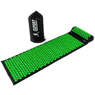 Массажный коврик Аппликатор Кузнецова + валик массажер для спины/шеи/ног/стоп/головы/тела OSPORT Pro (n-0006)