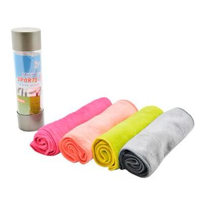 Полотенце для спорта в тубе (коврик микрофибра) 25х100см Stenson (R87911)