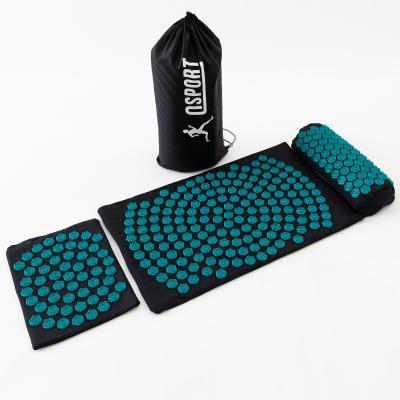 Массажный коврик Аппликатор Кузнецова + валик + подушка массажер для спины/шеи/ног OSPORT Lotus Set (n-0003)