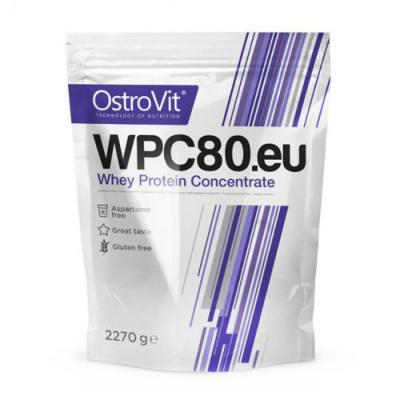 Концентрат сывороточно-белковый WPC80.eu порошок 2.27кг OstroVit (08401-07)