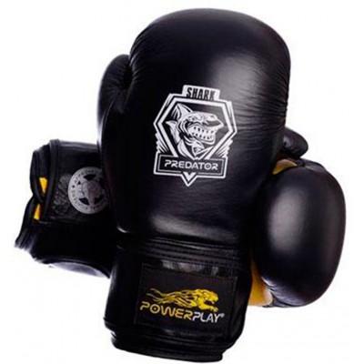 Боксерские перчатки PowerPlay 3001 Shark Series кожа