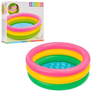Детский круглый надувной бассейн Profi (58924)
