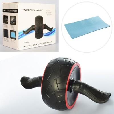 Ролик (колесо) для мышц пресса с возвратным механизмом Profi (MS 2211)