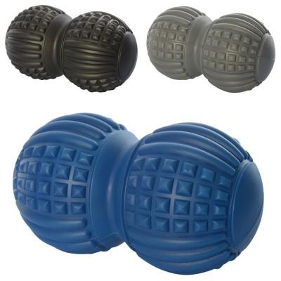 Мяч массажный (массажер) дуоболл для ног и рук ПВХ 18-18см Profi (MS 2481)