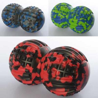 Мяч для йоги массажный (массажер) арахис для мышц спины, ног и рук OSPORT DuoBall Rad Roller (MS 2482)