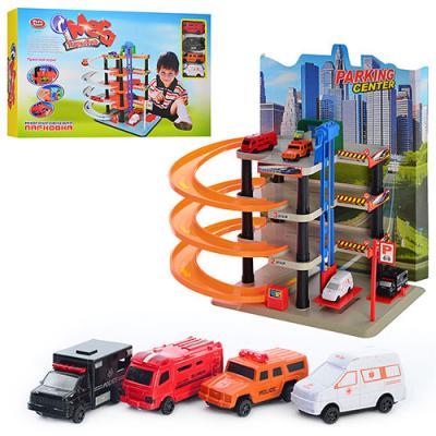 Гараж детский (паркинг) многоярусный с машинками Play Smart (0848)
