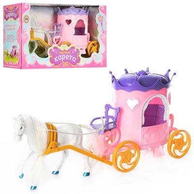 Детсая игрушка карета принцессы с лошадью Metr Plus (315)