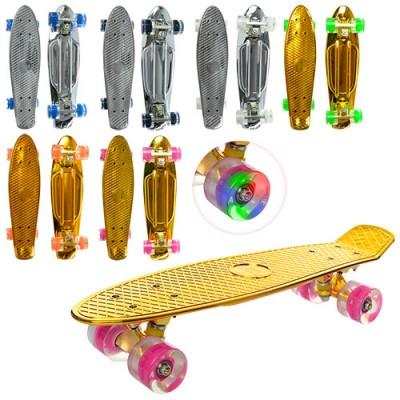 Скейт (скейтборд) детский пластиковый для трюков 56х14см Profi (MS 0296)