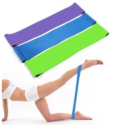 Резинка для фитнеса и спорта (лента эспандер) эластичная OSPORT Profi M (MS 1852-1)