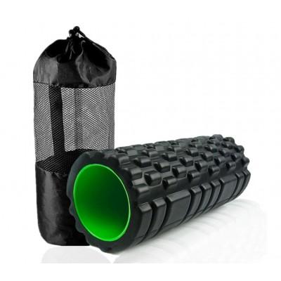 Массажный ролик, валик для массажа спины (массажер для спины, шеи, ног) OSPORT 33*14см + чехол (MS 2520)