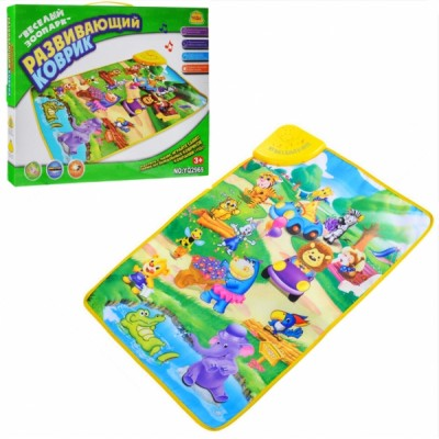 Детский игровой развивающий коврик OSPORT Веселый зоопарк (YQ 2969)