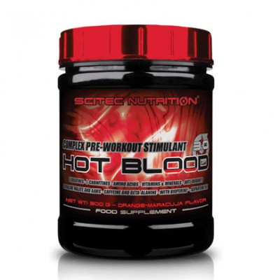 Энергетический напиток порошок 300г Scitec Nutrition Hot Blood 3.0 (06045-02)