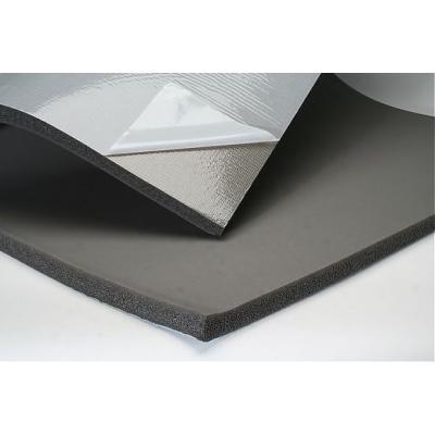Тепло-шумоизоляция из вспененного каучука SoundProOFF Flex Sheet с фольгой и клеем 32мм