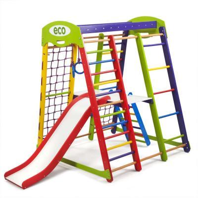 Детский спортивный комплекс 132х124х150см SportBaby (Акварелька Plus 2)
