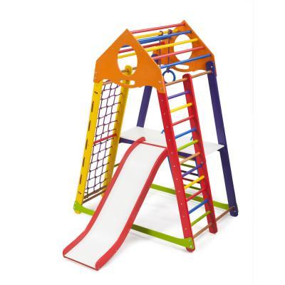 Детский спортивный комплекс 132х85х170см SportBaby (BambinoWood Color Plus 2)