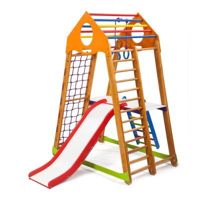 Детский спортивный комплекс 132х85х170см SportBaby (BambinoWood Plus 2)