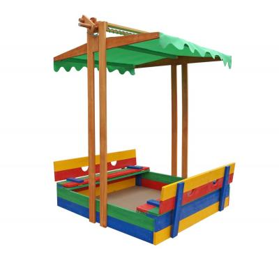 Детская песочница 1,45х1,45м с навесом и крышкой SportBaby (Песочница-10)