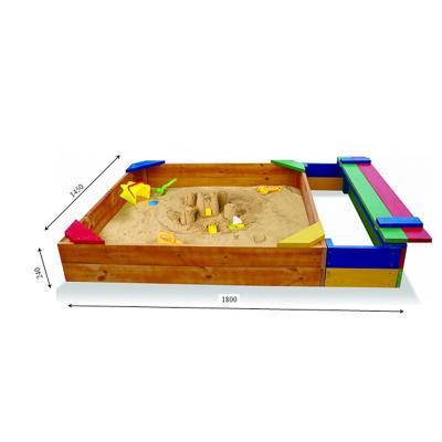 Детская песочница 1,8х1,45м с сидением SportBaby (Песочница-6)