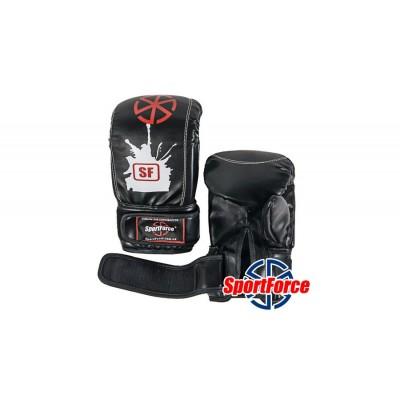 Снарядные перчатки (битки) SportForce, кожзам