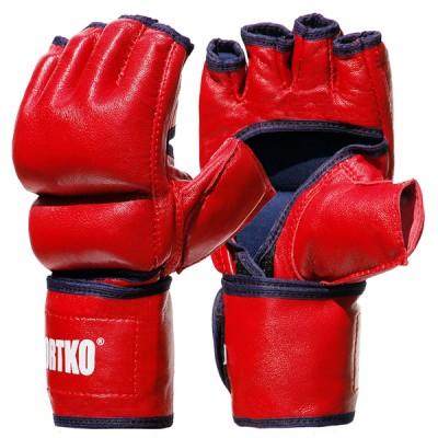 Битки с открытыми пальцами кожаные Sportko (ПК-5)