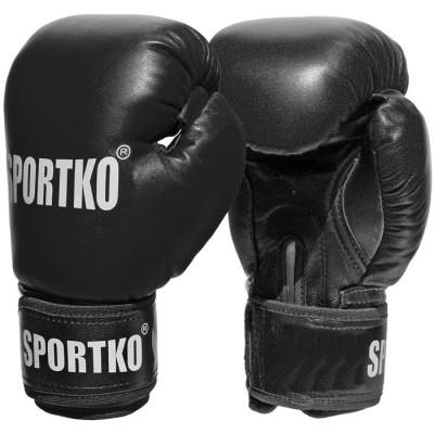 Боксерские перчатки из кожвинила Sportko 10 oz (ПД1)