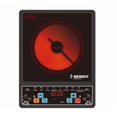 Плита электрическая настольная инфракрасная 2000w 28х36х5.5см BESSER (10248)