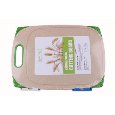 Доска (досточка) для кухни разделочная из пшеничной шелухи Эко Stenson 19.5x33см (R29047)