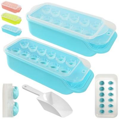 Форма (емкость) для льда силиконовая для кухни с контейнером и лопаткой Ракушки 25x11см Stenson (R21071)