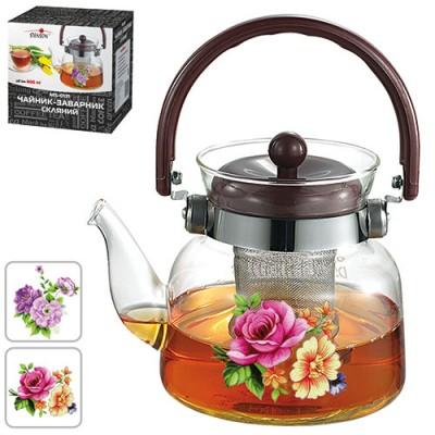 Чайник (заварник) для чая стеклянный 800мл Stenson (MS-0132)