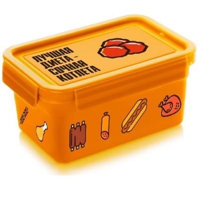 Термос (судок) для еды ланч-бокс пластиковый 850 мл Stenson (NP-77)