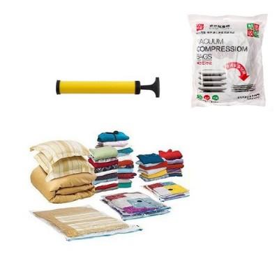 Вакуумный пакет (чехол) для хранения вещей (одежды) 5 шт с насосом Stenson (R26106)