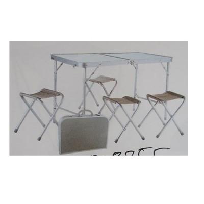 Комплект стол-чемодан туристический (походный, для пикника) сдвоенный + 4 стула складных (R28855)