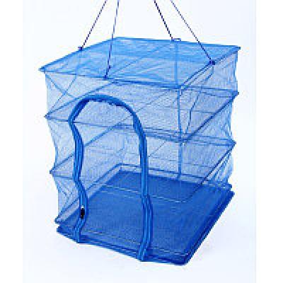 Сетка для сушки рыбы (сушилка для фруктов, овощей) четырехярусная 40х40х60см Stenson (SF23637)