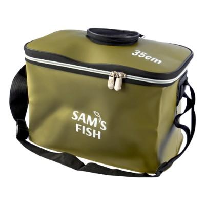 Сумка рыбацкая (чехол, ведро мягкое, ящик для рыбалки) для хранения рыбы и прикормки EVA 30 см (SF23840)