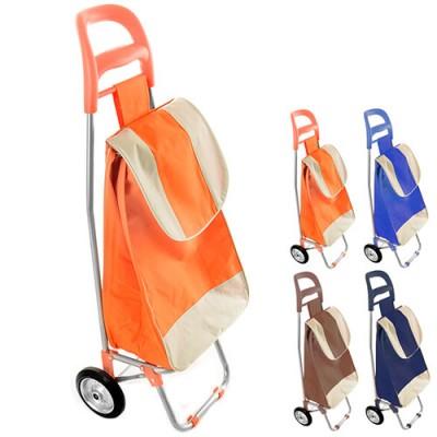 Тележка (сумка кравчучка) на металл. колесиках (тачка хозяйственная) тканевая 94см Stenson (MH-2079)