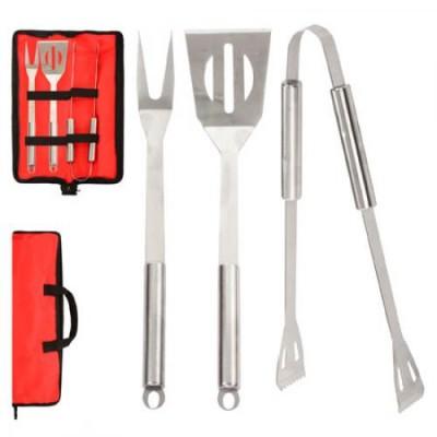 Набор для барбекю и гриля (вилка, лопатка, щипцы) Stenson (MH-0915)
