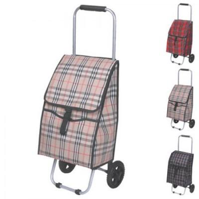 Тележка (сумка кравчучка) на колесиках (тачка хозяйственная) тканевая 80см Stenson (MH-1894)