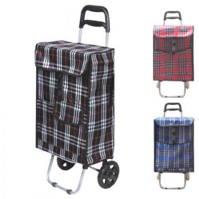 Тележка (сумка кравчучка) на колесиках (тачка хозяйственная) тканевая 92см Stenson (MH-1896)