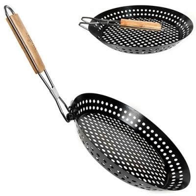 Сковорода (сковородка) для барбекю антипригарная 30.4х4см Stenson (MH-2057)
