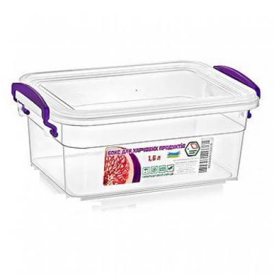 Контейнер (емкость) для хранения сыпучих продуктов (круп) с ручками 1.6л Stenson (NP-13)