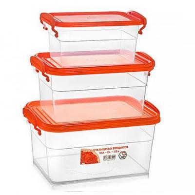 Контейнер (емкость) для хранения сыпучих продуктов (круп) с ручками 3шт Stenson (NP-60)
