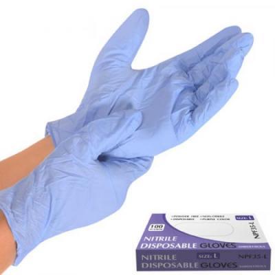 Перчатка нитриловая неопудренная нестерильная 100шт Stenson (NPF35-L)